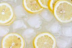 背景柠檬水 图库摄影