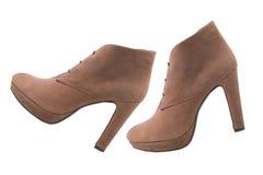 背景查出在鞋子白人妇女 免版税库存照片