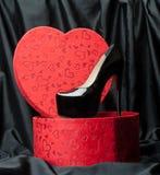 背景查出在鞋子白人妇女 免版税图库摄影