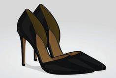 背景查出在鞋子白人妇女 库存例证