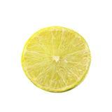 背景查出柠檬片式白色 免版税库存图片