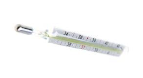 背景查出的医疗温度计白色 库存图片