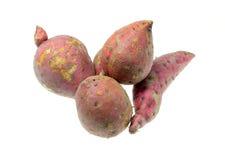 背景查出的土豆甜白色 图库摄影
