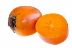 背景查出的对象柿子白色 免版税库存照片