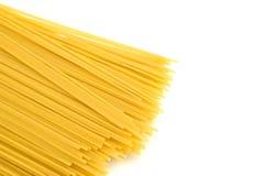 背景查出的意大利面食白色 免版税库存图片