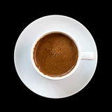 背景查出的无奶咖啡希腊 免版税库存照片