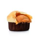背景查出的松饼白色 免版税库存照片