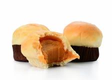 背景查出的松饼白色 免版税图库摄影