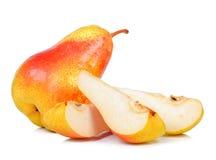 背景查出的梨空白黄色 免版税库存图片
