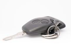 背景查出的汽车控制锁上远程白色 库存照片