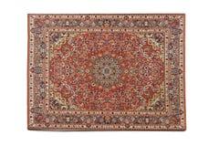 背景查出的波斯地毯白色 免版税库存照片