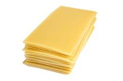 背景查出的烤宽面条意大利面食白色 免版税库存图片