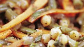 背景查出的牌照沙拉蔬菜白色 影视素材