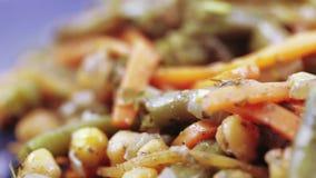 背景查出的牌照沙拉蔬菜白色 股票录像
