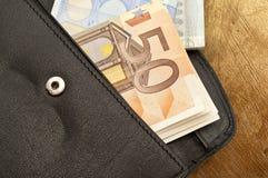 背景查出的皮革货币钱包白色 库存图片