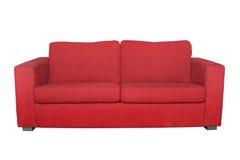背景查出的红色沙发白色 免版税库存照片