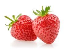 背景查出草莓白色 库存图片