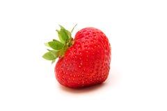 背景查出草莓白色 免版税库存图片