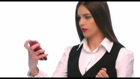 背景查出移动电话sms妇女文字年轻人 影视素材