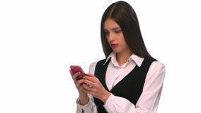 背景查出移动电话sms妇女文字年轻人 股票录像