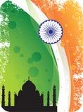 背景标志印第安mahal剪影taj 库存照片
