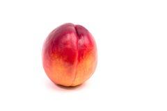 背景桃子成熟白色 库存图片