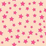 背景桃红色星形 库存照片