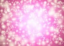 背景桃红色星形 库存图片