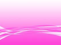 背景桃红色波浪 库存图片