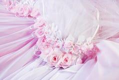 背景桃红色纺织品婚礼 免版税库存照片