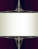背景框架紫色长方形银 免版税库存图片