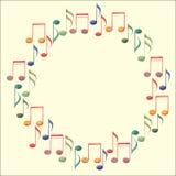 背景框架音乐纯白色 皇族释放例证