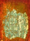 背景桔子油漆 库存照片
