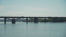 背景桥梁城市街道画grunge例证样式称呼了都市向量 股票录像