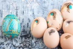 背景检查复活节容易的编辑鸡蛋被编组的例证请分层了堆积更多我的投资组合 免版税库存照片