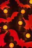 背景棒万圣节月光附注 库存图片