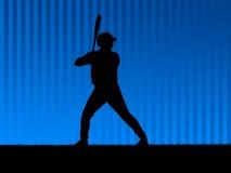 背景棒球蓝色 免版税库存图片