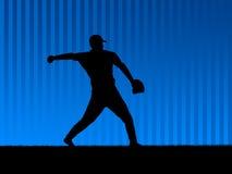 背景棒球蓝色 图库摄影