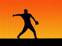 背景棒球 图库摄影