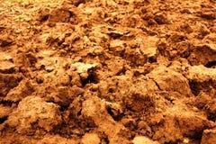 背景棕色土壤耕种 图库摄影