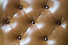背景棕色皮革纹理 免版税图库摄影