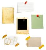 背景棕色附注老纸张 免版税库存照片