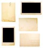 背景棕色附注老纸张 库存照片
