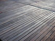 背景楼层被碾压的teakwook纹理木头 免版税图库摄影