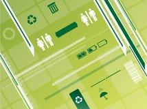 背景概念回收 库存例证