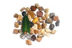 背景概念查出的石空白禅宗 免版税图库摄影