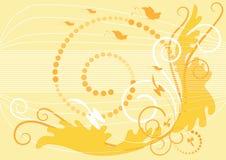 背景横幅苍白wallpa黄色 免版税库存照片