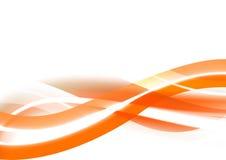 背景橙色波浪 库存照片