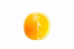背景橙色白色 免版税库存照片