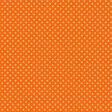 背景橙色polkadots小的白色 免版税库存照片